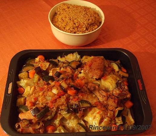 Benachin (Afrikanisches Reisgericht mit Hühnchen