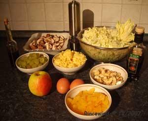 Zutaten für Chinakohlsalat