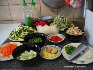 Zutaten für Chinapfanne